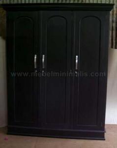 Almari Minimalis Black 3P
