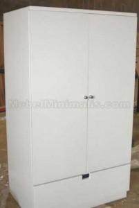 Lemari Minimalis Polos 2 Pintu Putih Duco (2)