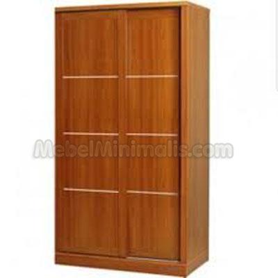 Kayu Jati on Jati Sliding 2 Pintu Toko Furniture Minimalis Mebel Kayu Jati