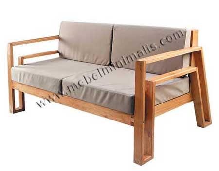 jual bale bale bangku sofa jati minimalis jepara furniture