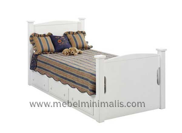 jepara furniture tempat tidur anak laki laki duco putih