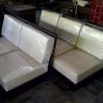 Living Room Minimalis Jati Jok Kulit Asli