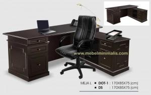Meja Kantor Minimalis Leter L Satu Biro MM 333