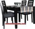 Ruang Makan Minimalis Jari-Jari 4 Kursi