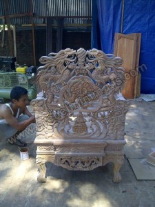 Kursi Naga Ukiran Relief Kayu Jati Jepara 05