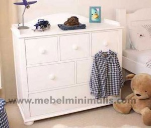 Baby Table Minimalis Duco Putih MM 119