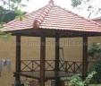 Gazebo Taman Minimalis Kayu Kelapa MM 365