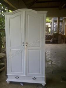 Lemari Pakaian Minimalis Duco Putih, Pes. Mbak Meylani Surabaya